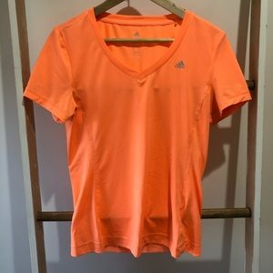 Adidas vneck workout shirt
